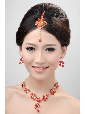 Awesome Alloy Crystals Wedding Party Earrings Set