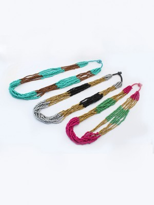 Occident Exotic Stylish Multi-layered Seed Hot Sale Necklace