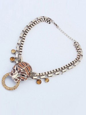 Occident Personality Metallic Leopard Punk Fashion Necklace