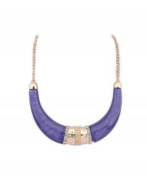 Occident Hyperbolic Ethnic Customs Semi-arc Fashion Necklace