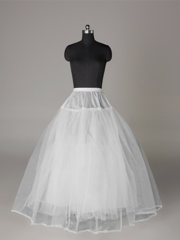 Tulle Netting Ball-Gown 3 Tier Floor Length Slip Style Wedding Petticoat