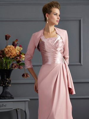 Vävd satin 3/4 Ärmar Special Occasion Fashion Wrap