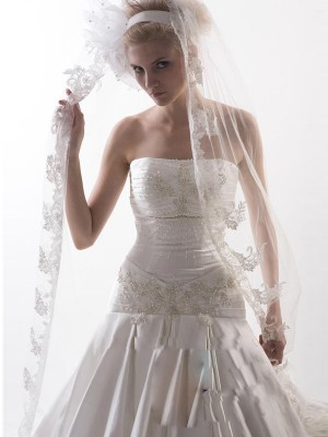 Flower Tulle Bridal Veils