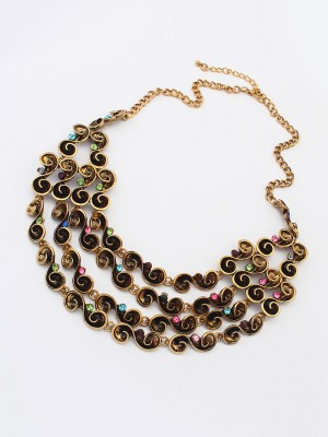 Occident Hyperbolic Personality multi-layered Fashion Necklace