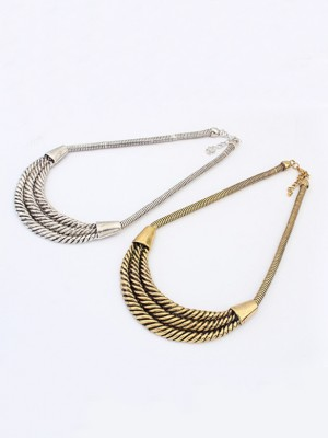 Occident Hyperbolic Personality Semi-arc alloy Fashion Necklace