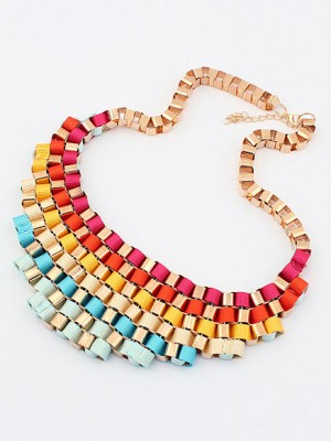 Occident Hyperbolic Colorful Stylish Street shooting All-match Fashion Necklace