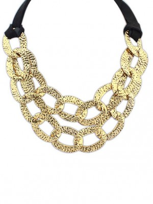 Occident Hyperbolic Metallic Hollow Personality Fashion Necklace