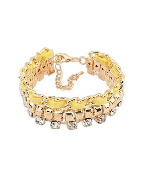 Occident Fashionable New Flash Drilling Woven Fashion Bracelets