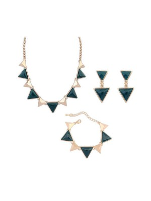 Occident Fashion Retro Punk Geometry Triangle Kit