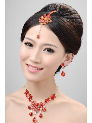 Stunning Alloy Crystals Wedding Party Earrings Set