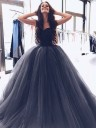 Ball Gown Sweetheart Sleeveless Sweep/Brush Train With Beading Tulle Dresses